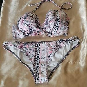 Victoria's Secret Paisley 2 Piece Swimsuit 32C